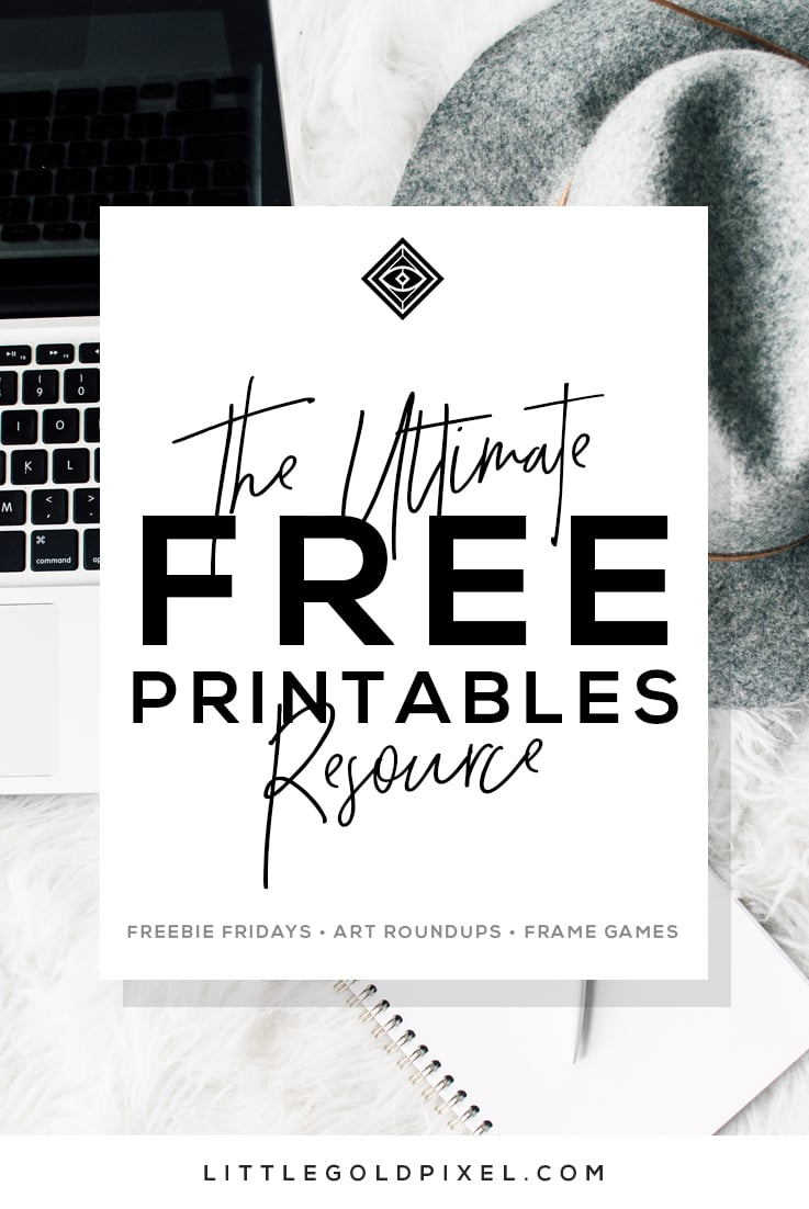 free printables wall art roundups little gold pixel printable photos littlegoldpixel coloring pages Free Printable Photos
