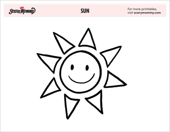 free sun coloring destined to brighten any printable colorful easel patterns for number coloring pages Sun Coloring Page Printable