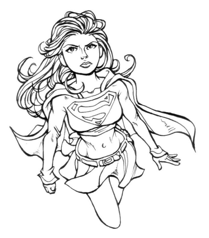 free supergirl printable coloring images on clipart library super girl di6ax989t coloring pages Super Girl Coloring Page