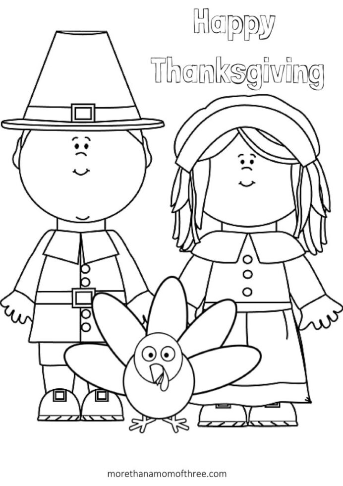 free thanksgiving coloring printables for kids more than mom of three thankful happy hard coloring pages Thankful Coloring Page