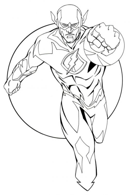 free the flash coloring letscolorit superhero mandala sheets christmas music lesson plans coloring pages Flash Coloring Page