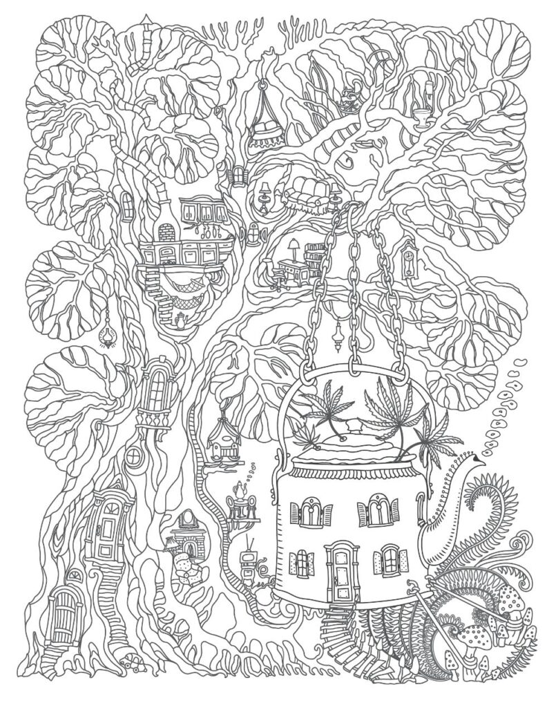 free tree house coloring for pdf verbnow treehouse color may7 808x1024 plasma dragon coloring pages Treehouse Coloring Page