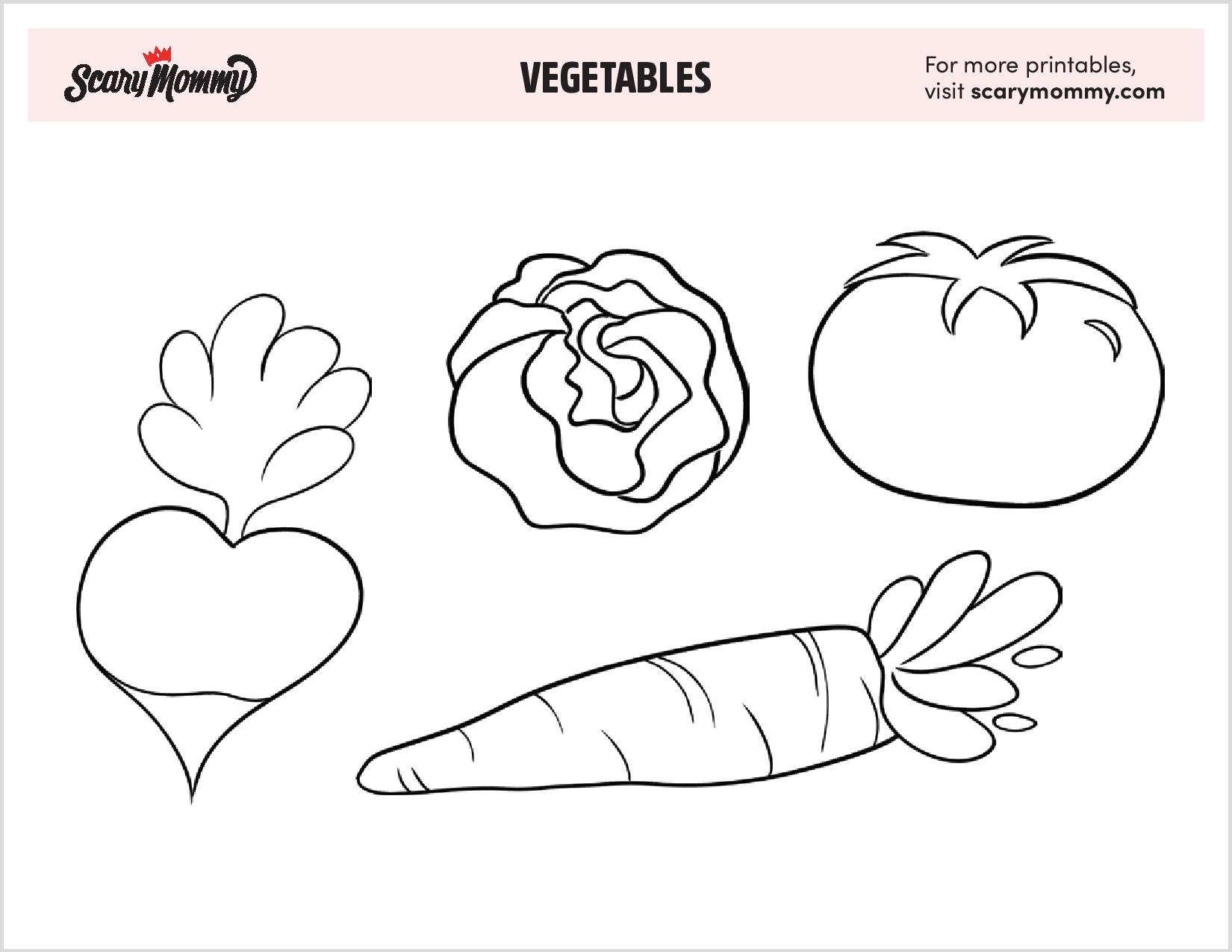 free vegetable coloring even picky eaters vegetables baking soda chalk paint kids coloring pages Vegetables Coloring Page