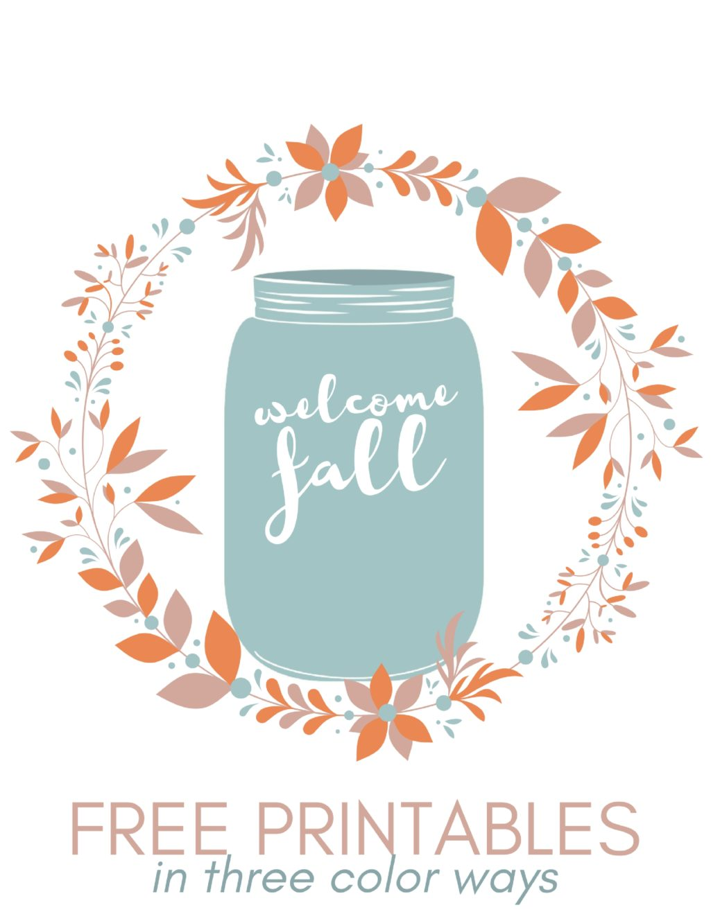 free welcome fall printables crafts mad in printable jars three colorways glitter markers coloring pages Free Printable Mason Jars