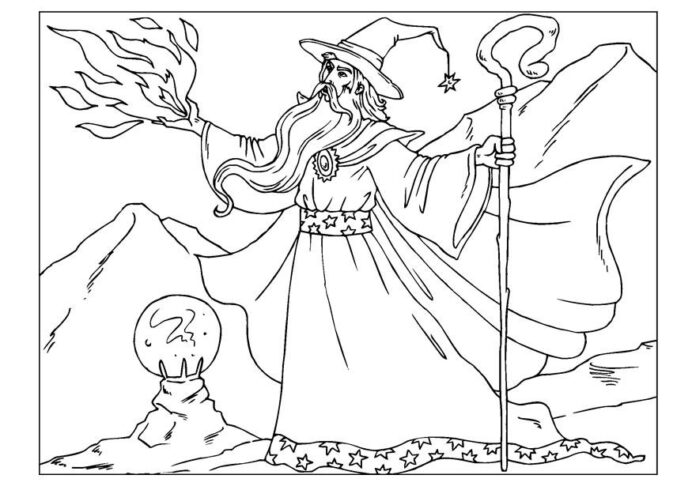 free wizard coloring images on clipart library ptqgezpt9 pinto santo maria crayola world coloring pages Wizard Coloring Page