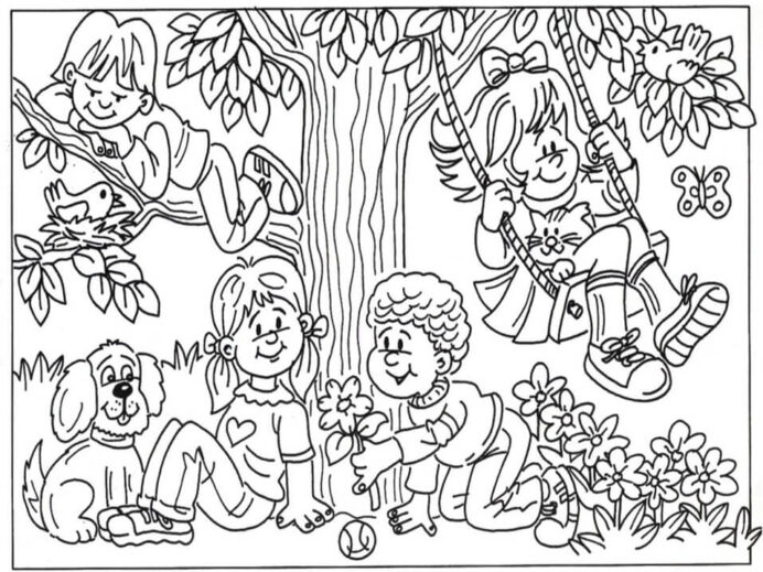 friendship coloring free printable for kids color learning toys state chinese moon coloring pages Friendship Coloring Page