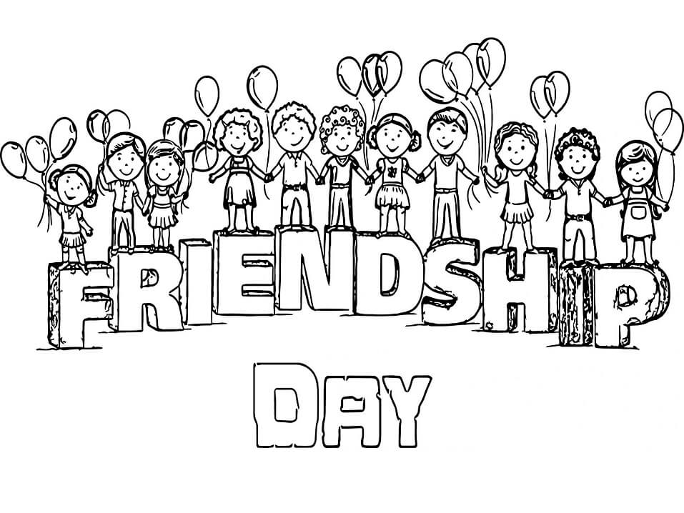 friendship coloring free printable for kids retiring of colors company draw hq state coloring pages Friendship Coloring Page
