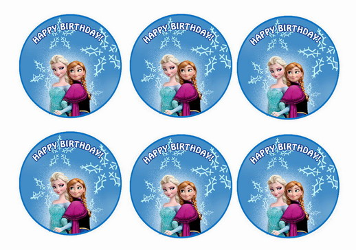 frozen cupcake toppers birthday printable topper free toppers1 main letter for coloring coloring pages Frozen Cupcake Topper Free Printable