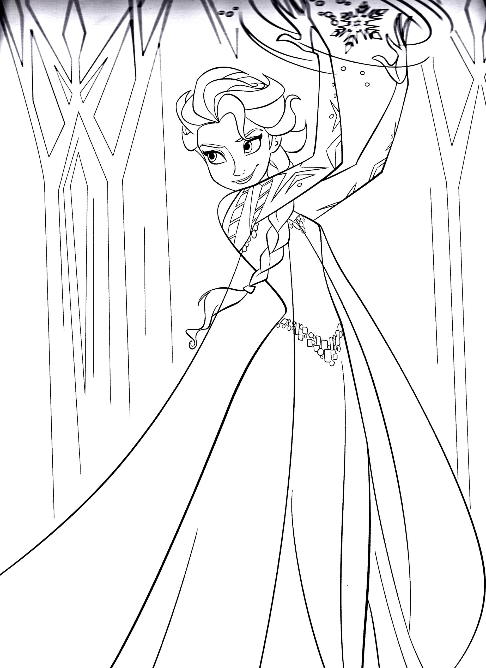 frozen to print for free kids coloring elsa snail sheet blocks sheets pet paw light up coloring pages Free Elsa Coloring Page