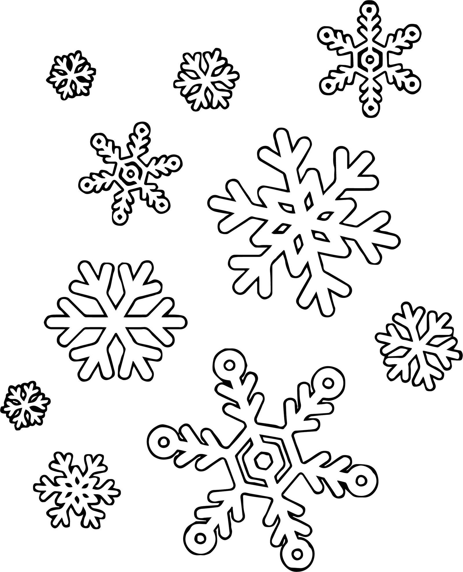 fun and easy snowflake coloring winter christmas snowflakes label skeleton worksheet for coloring pages Snowflakes Coloring Page