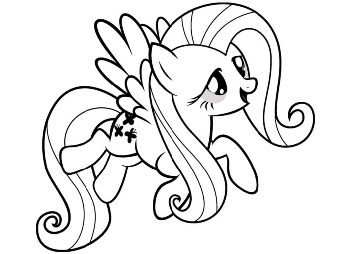 funny fluttershy coloring free printable for kids pop art sheets wonder pets satue of coloring pages Fluttershy Coloring Page