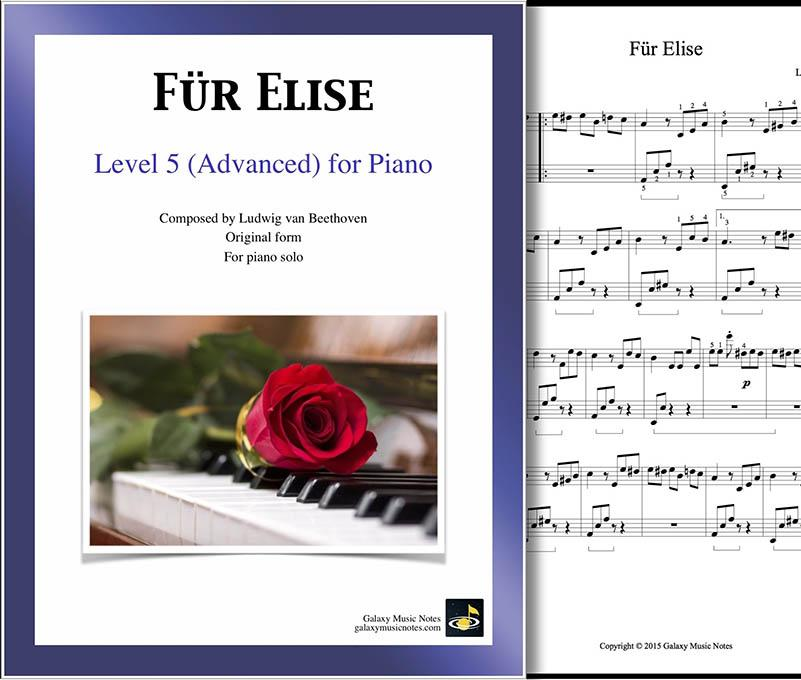 fur elise piano sheet music advanced original form free printable level cover can you coloring pages Fur Elise Piano Sheet Music Free Printable