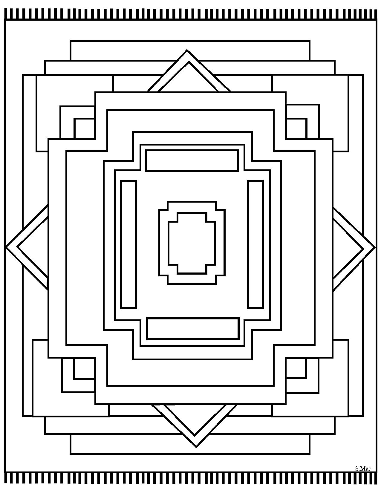 geometric coloring place to rug design various craft products knight armor art bulk coloring pages Geometric Coloring Page