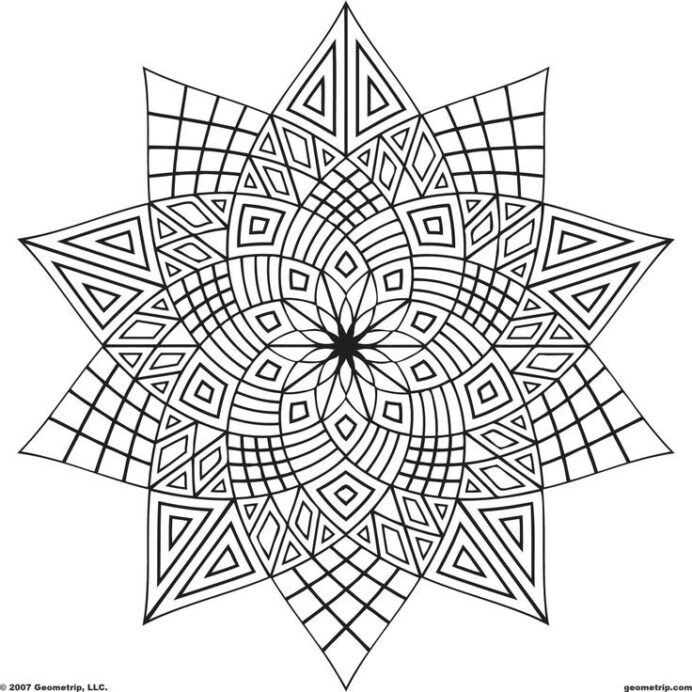 geometric design coloring to print home rtdrmarac astros blank sheets thanksgiving and coloring pages Geometric Coloring Page