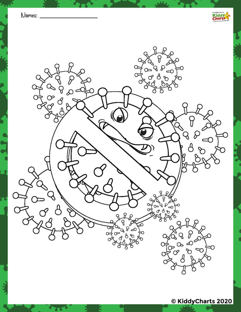 germ activity for kids free worksheets kiddycharts germs coloring printables logo coloring pages Germs Coloring Page