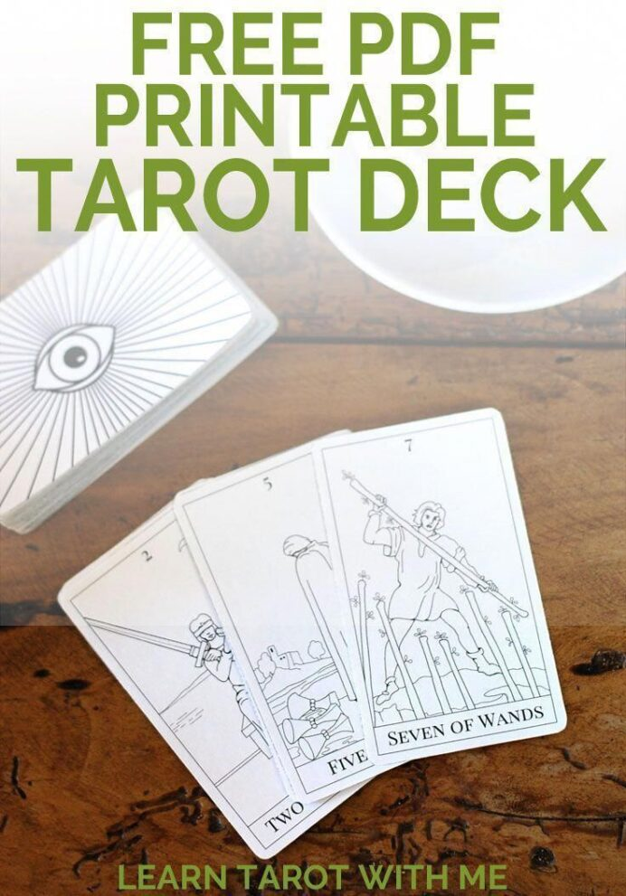 get free downloadable and printable pdf tarot deck from learn with to begin learning the coloring pages Free Printable Tarot Cards Pdf