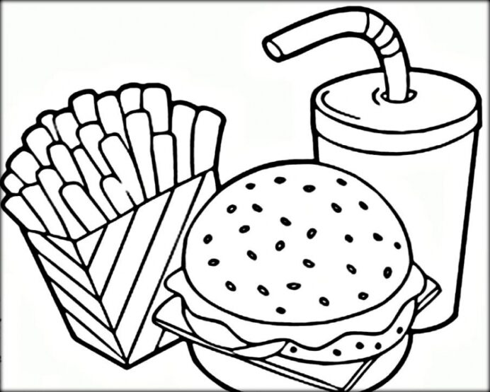 get this food coloring hamburger and french fries 7cvr7 symmetry butterflies have crayola coloring pages French Fries Coloring Page