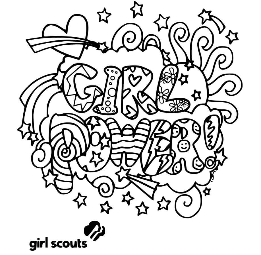girl scouts coloring free printable for kids scout cookie easter art ideas crafts graph coloring pages Girl Scout Cookie Coloring Page
