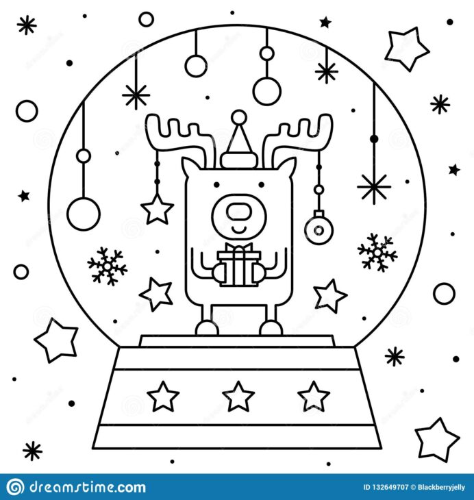 globe coloring stock illustrations vectors clipart dreamstime snow deer black vector coloring pages Coloring Page Globe