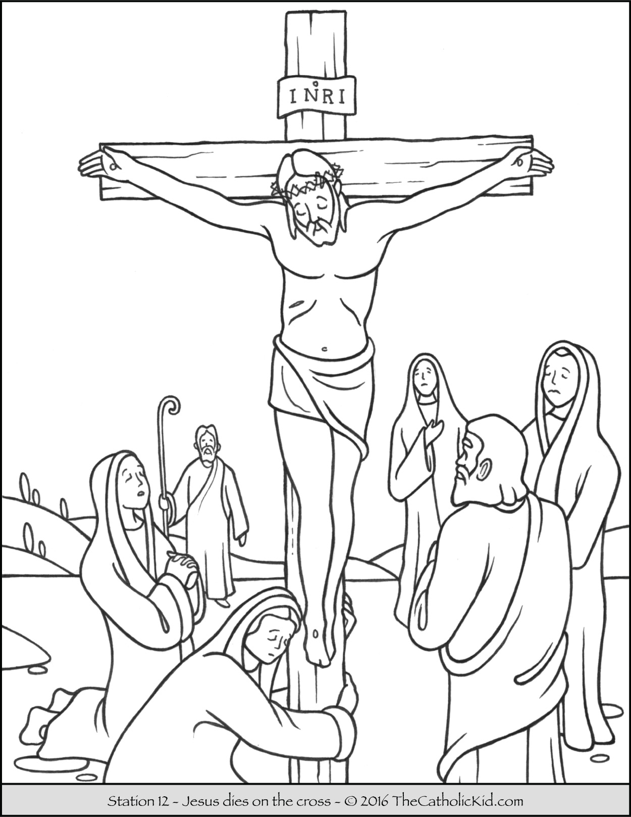 good friday coloring home crucifix ridrrpbkt trace horse pictures simple pdf apples coloring pages Crucifix Coloring Page