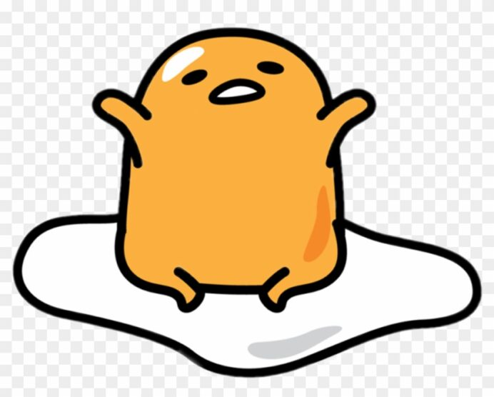 gudetama cute free transparent clipart images coloring printable flowers to color for coloring pages Gudetama Coloring Page