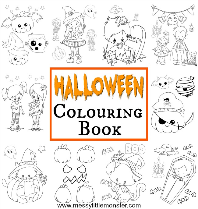 halloween colouring for kids messy little monster coloring halloweencbpin diy alien space coloring pages Kids Halloween Coloring Page