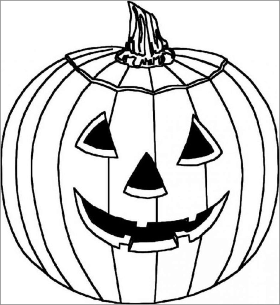 halloween pumpkin coloring for toddlers coloringbay girls craft sets invisible markers coloring pages Halloween Pumpkin Coloring Page