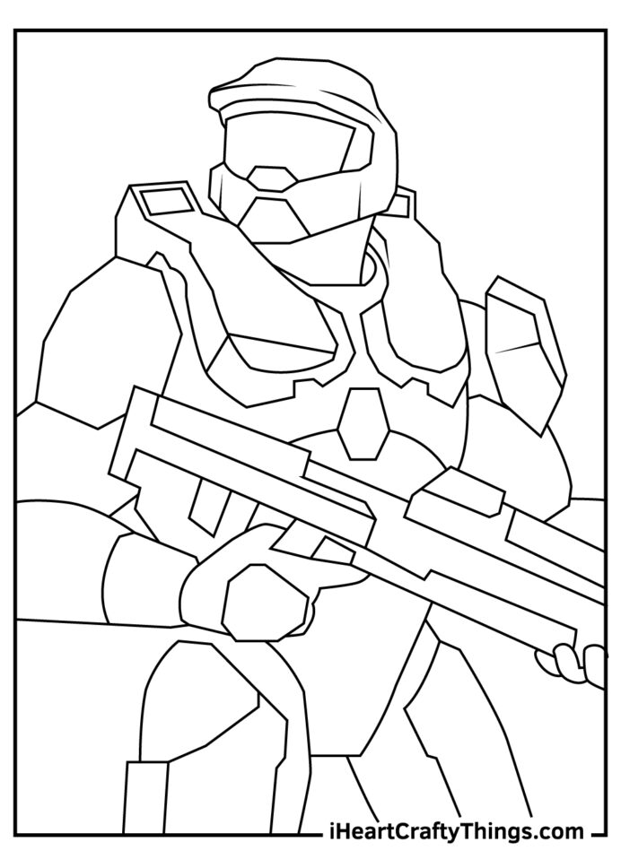halo coloring updated master chief card making kits pumpkin mosaic books for children the coloring pages Master Chief Coloring Page