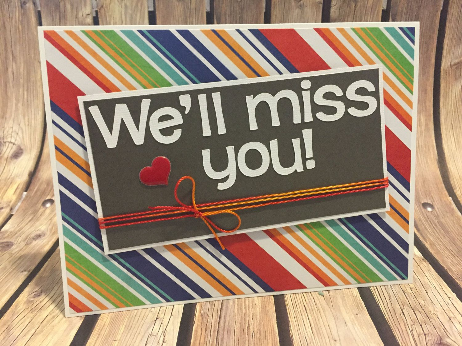 handmade we ll miss you greeting card goodbye etsy farewell cards free printable dark coloring pages Free Printable We Will Miss You Cards