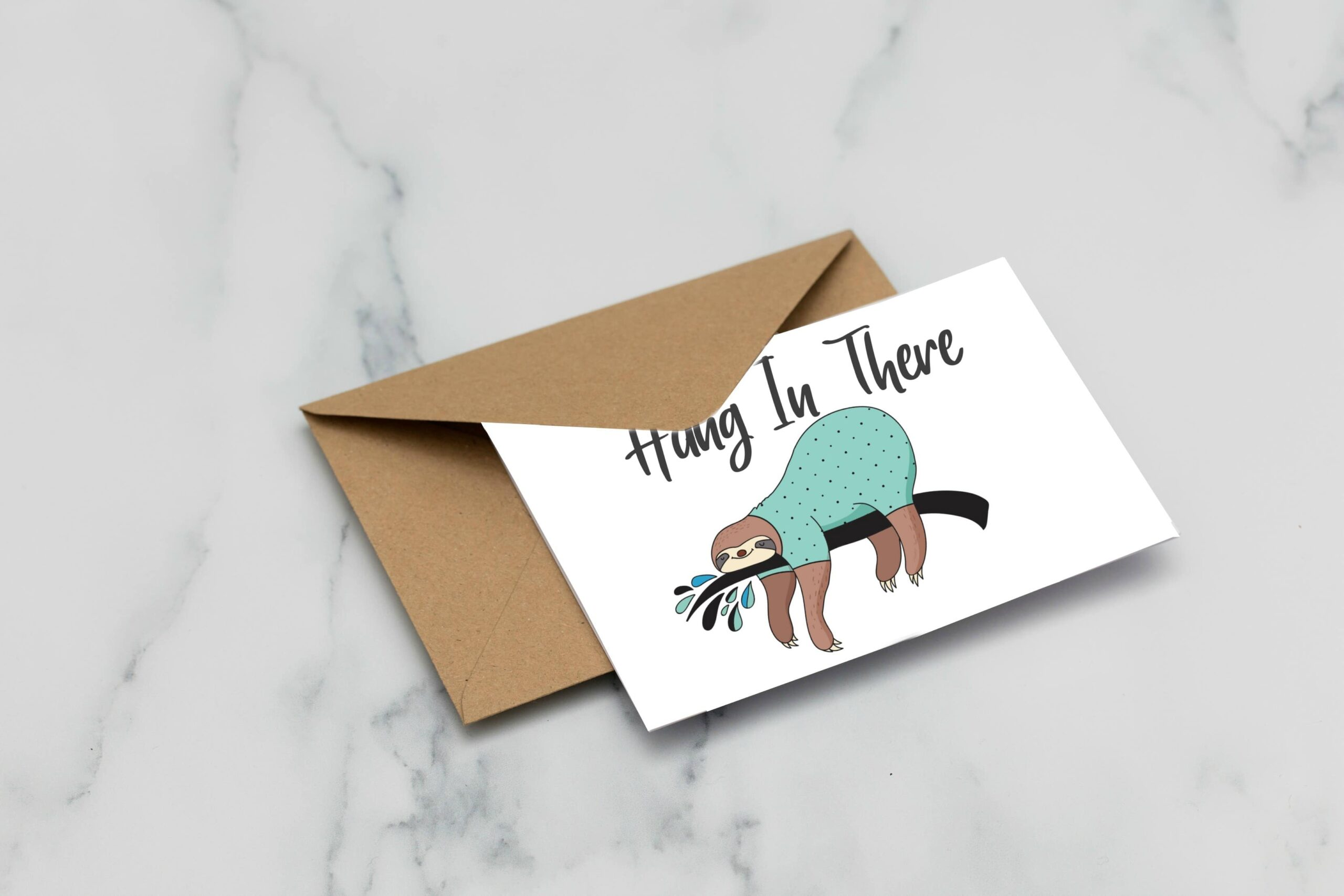 hang in there printable sloth cards fun happy home free encouragement with sloths eater coloring pages Free Printable Encouragement Cards