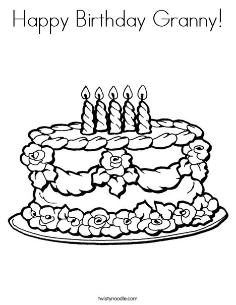 happy birthday granny coloring twisty noodle 468x609 q85 stain is chalking monsters flag coloring pages Coloring Page Happy Birthday