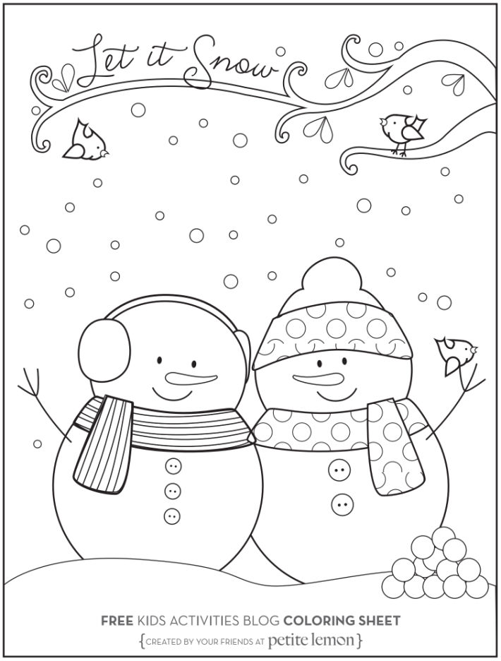 happy check out these january coloring kids activities blog snow let it snowman and coloring pages Snow Coloring Page