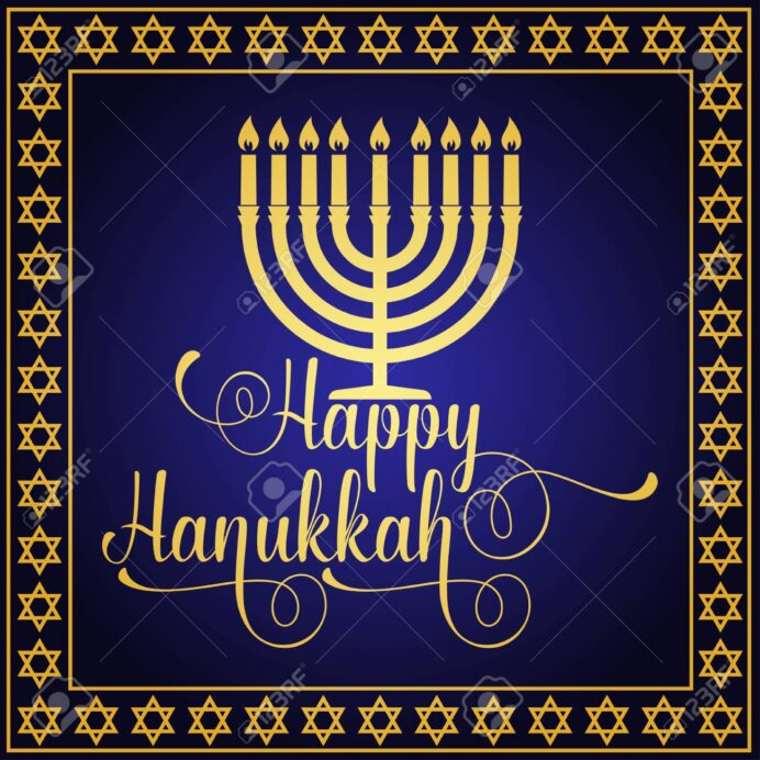 happy hanukkah greeting card typography design candlestick royalty free vectors and stock coloring pages Free Printable Hanukkah Cards