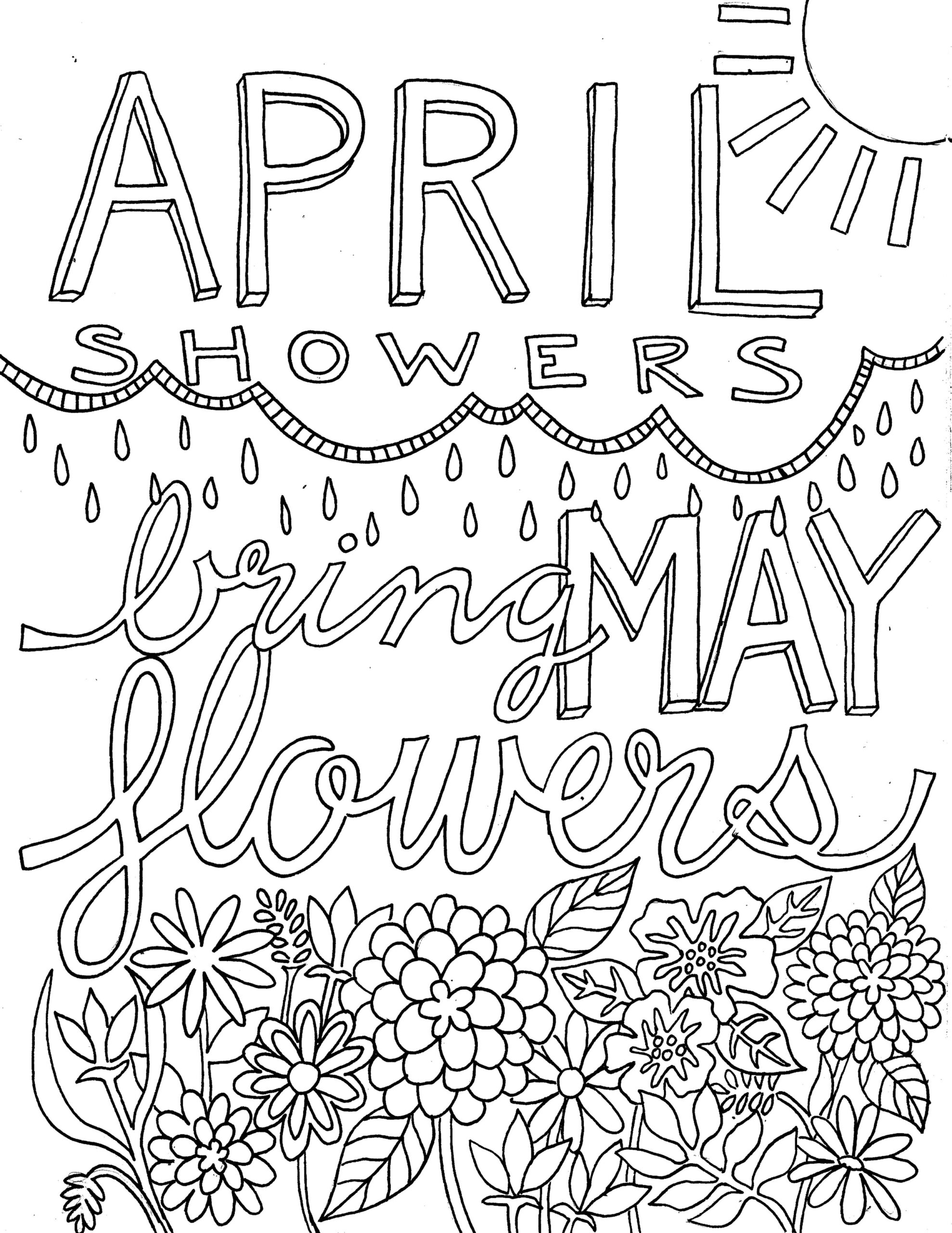 happy may from victory road april showers bring flowers coloring super heros outlines of coloring pages April Showers Bring May Flowers Coloring Page