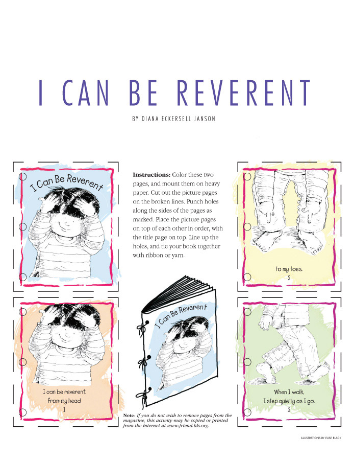 happy nursery lds lesson reverent can coloring fr08aug38 cinquains examples dry erase coloring pages I Can Be Reverent Coloring Page
