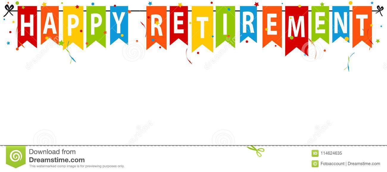 happy retirement vector illustration isolated on stock of abstract free printable banners coloring pages Free Printable Retirement Banners