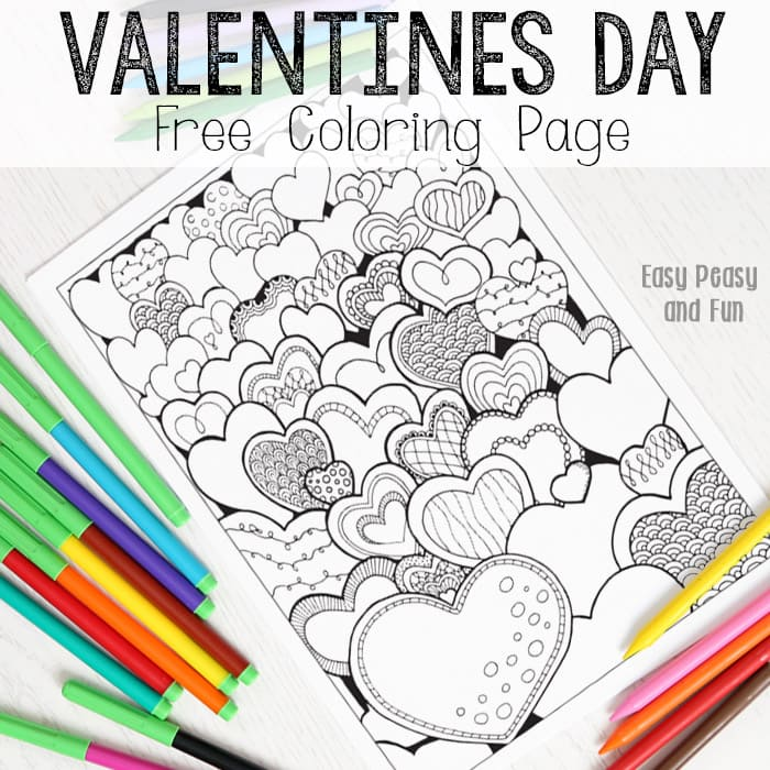 hearts valentines coloring for adults easy peasy and fun field crayon making kit new coloring pages Field Day Coloring Page