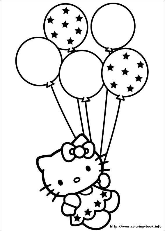 hello kitty coloring colouring birthday classpack colored pencils of autumn glitter coloring pages Hello Kitty Birthday Coloring Page