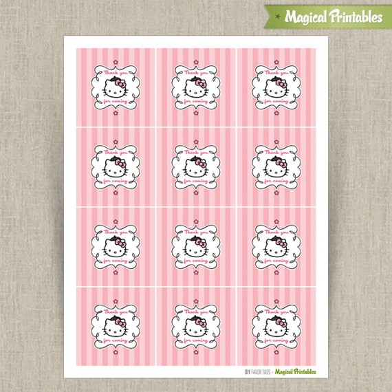 hello kitty paris printable birthday favor tag labels instant free tags tags2 570x570 coloring pages Free Printable Birthday Favor Tags