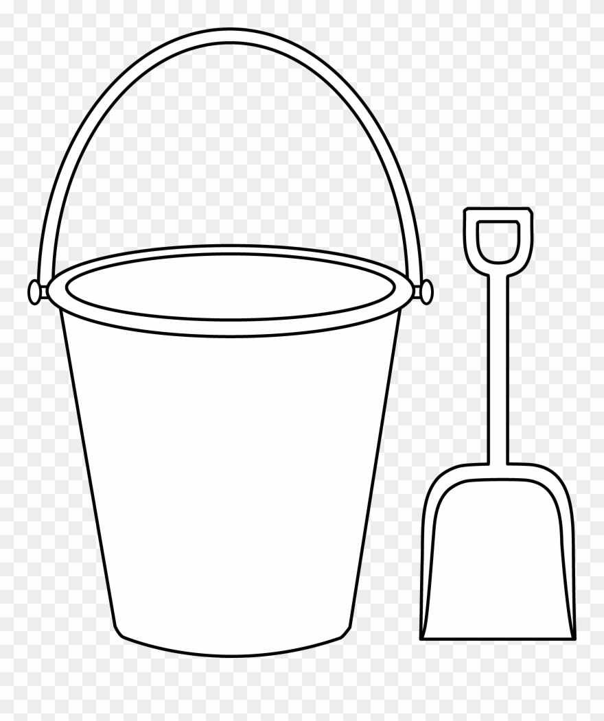helpful bucket and shovel coloring kids colorable sand crafts clipart pinclipart beach coloring pages Beach Bucket Coloring Page
