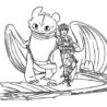 hiccup and toothless are bestfriend in to train your dragon coloring sky college kit coloring pages Toothless Dragon Coloring Page