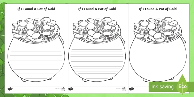 if found of gold writing template roi free printable roi2 ver squibbles water toy lesson coloring pages Pot Of Gold Template Free Printable