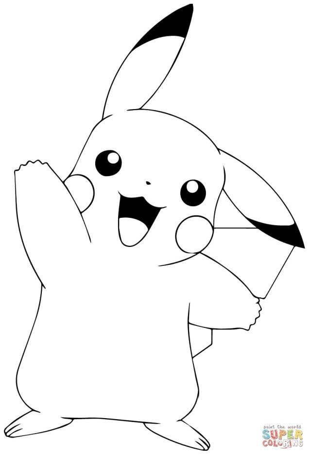 inspiration image of free printable pokemon coloring entitlementtrap pikachu egyptian coloring pages Coloring Page Pikachu