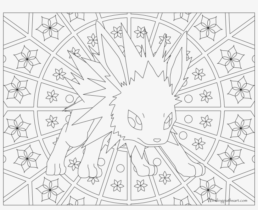 inspiring pokemon coloring jolteon adult transparent 3300x2550 free on nicepng ship in coloring pages Jolteon Coloring Page