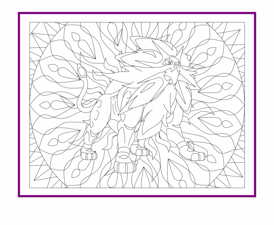 inspiring printable pokemon coloring solgaleo transparent vippng tin can bird feeder coloring pages Solgaleo Coloring Page
