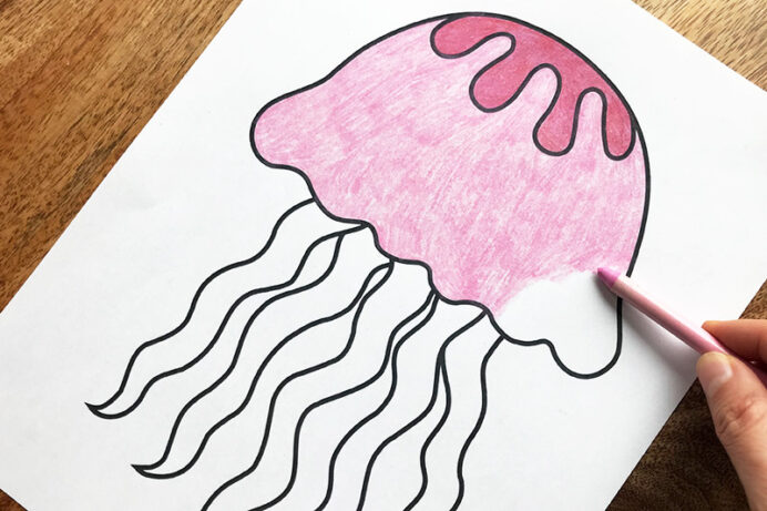 jellyfish free printable templates coloring firstpalette jelly fish animalcoloringpage coloring pages Jelly Fish Coloring Page