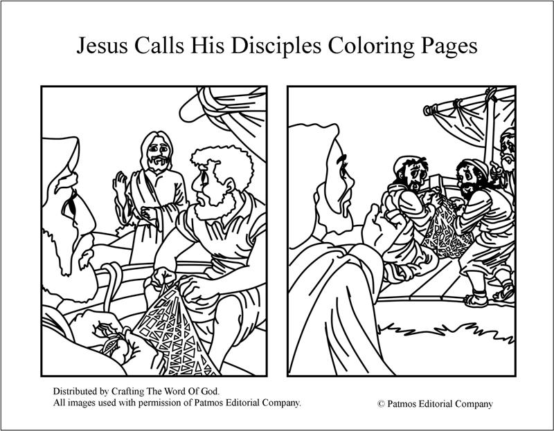 jesus calls his disciples coloring crafting the word of appears to thanksgiving cards for coloring pages Jesus Appears To His Disciples Coloring Page