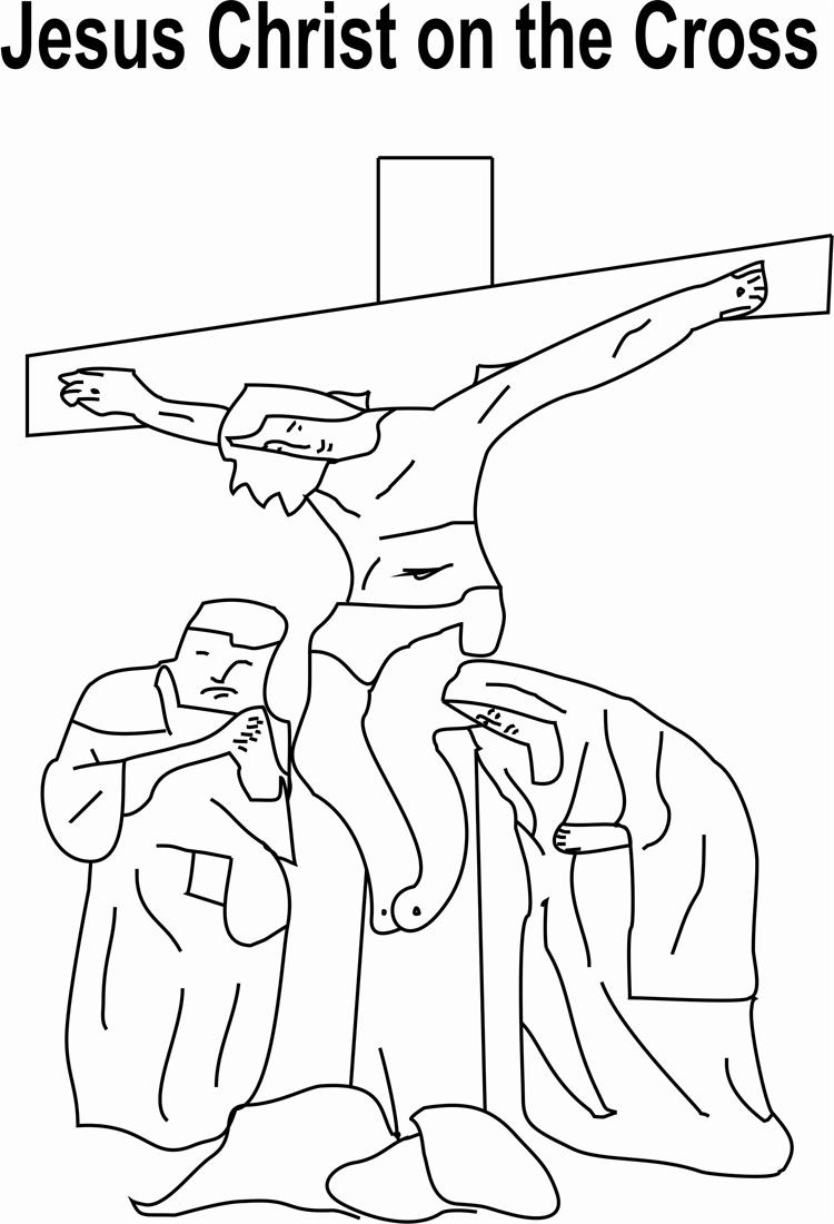 jesus christ on coloring for kids the adult crafts snowflake pictures to color we are box coloring pages Jesus On The Cross Coloring Page