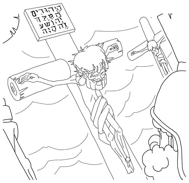 jesus dies on the coloring for good friday ministry to children lesson plans about tides coloring pages Jesus On The Cross Coloring Page