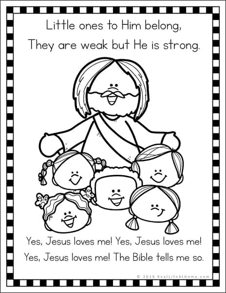 jesus loves coloring free printables set for kids you sample2 remove crayons from walls coloring pages Jesus Loves You Coloring Page